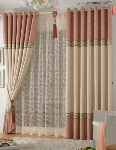 رنگ و طرح  پرده مناسب برای ست کردن با مبلمان کلاسیک زعفرانی - عکس شماره 32
