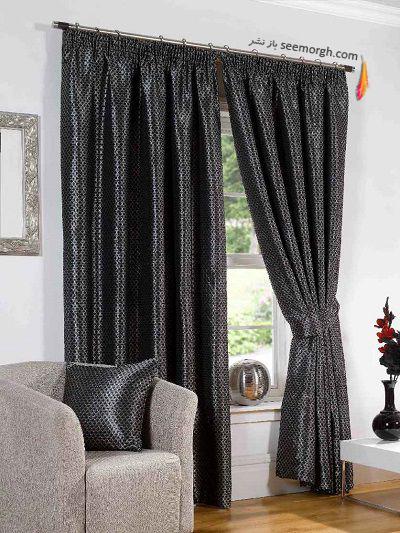رنگ و طرح  پرده مناسب برای ست کردن با مبلمان کلاسیک زعفرانی - عکس شماره 31