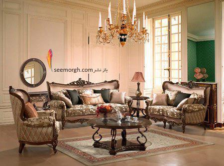 روکش مبل استیل با پارچه مخمل پرزدار - عکس شماره 2,ست کردن مبلمان با فرش,ست کردن مبلمان با فرش سورمه ای
