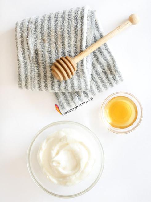مرطوب کننده پوست با ماست و عسل