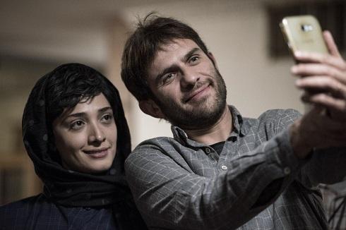 بابک حمیدیان و همسرش در فیلم جشن دلتنگی