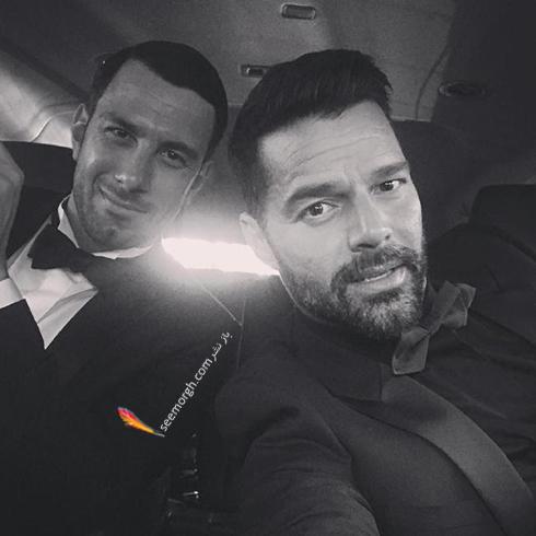 ريکي مارتين Ricky Martin در حال رفتن به مراسم گلدن گلوب 2018