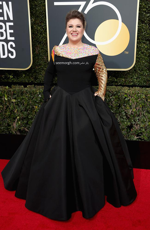 مدل لباس کلی کلارکسون Kelly Clarkson در مراسم گلدن گلوب 2018