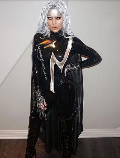 مدل لباس کلوئی کارداشیان khloe Kardashian در جشن هالووین 2016