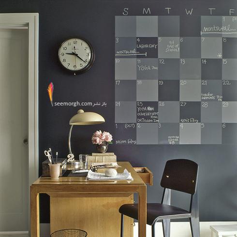 تزیین دیوار اتاق خواب به صورت برنامه هفتگی,تزیین دیوار,ایده هایی برای تزیین دیوار,مدل های تزیین دیوار,