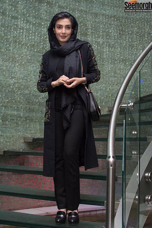 مدل مانتو بلند به سبک لیلا زارع