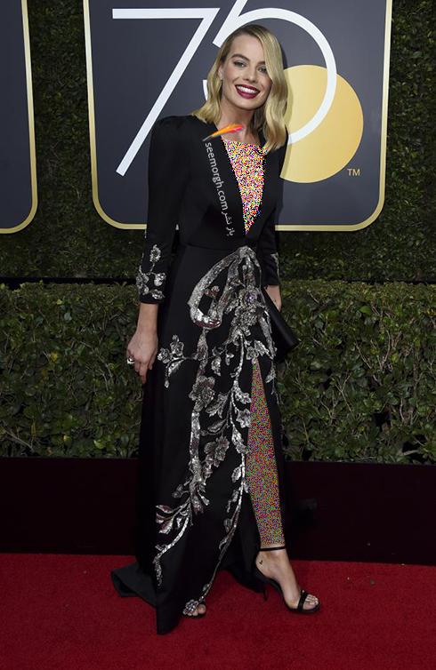 مدل لباس مارگو رابی Margot Robbie در مراسم گلدن گلوب 2018