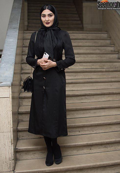 مدل مانتو بلند به سبک مریم معصومی