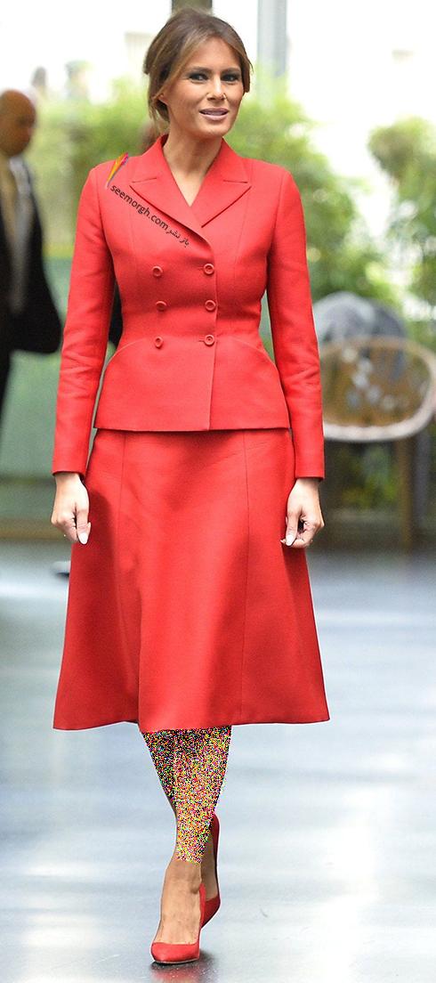 کت و دامن پاییزی به سبک ملانیا ترامپ Melania Trump - عکس شماره 5