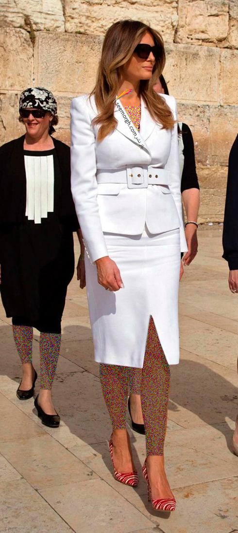 کت و دامن پاییزی به سبک ملانیا ترامپ Melania Trump - عکس شماره 3