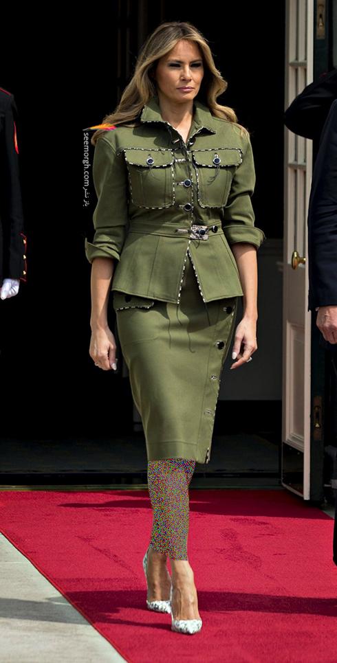 کت و دامن پاییزی به سبک ملانیا ترامپ Melania Trump - عکس شماره 2