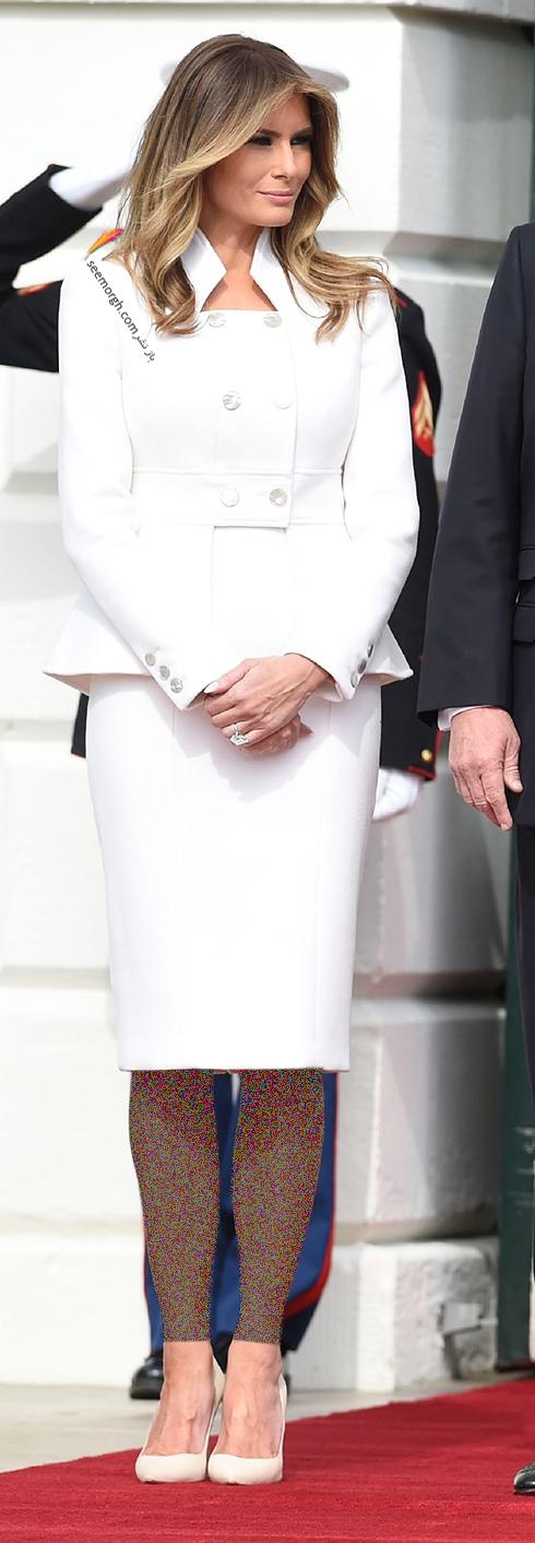 کت و دامن پاییزی به سبک ملانیا ترامپ Melania Trump - عکس شماره 1
