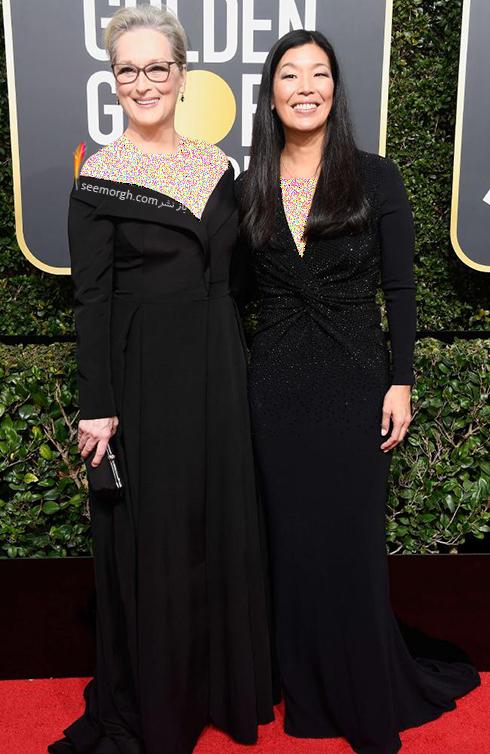 مدل لباس مریل استریپ Meryl Streep در مراسم گلدن گلوب 2018