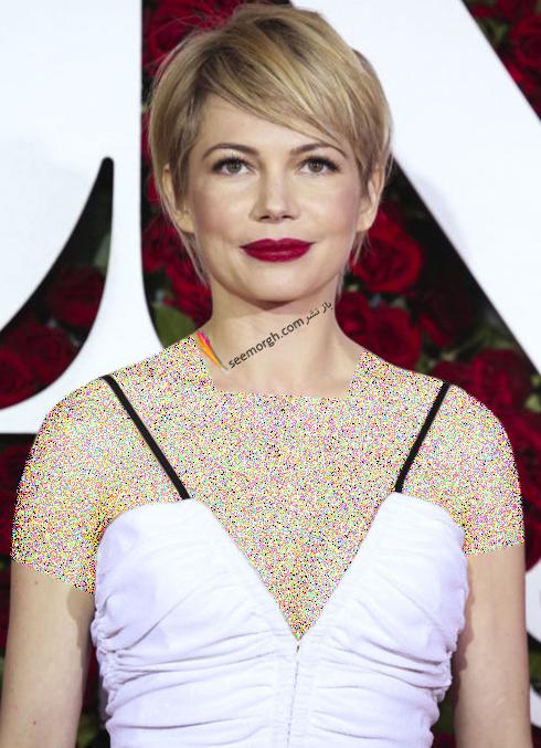 مدل مو کوتاه به سبک میشل ویلیامز Michelle Williams برای خانم های زیر 30 سال