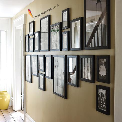 تزیین دیوار ساده با عکس های خانوادگی,تزیین دیوار,ایده هایی برای تزیین دیوار,مدل های تزیین دیوار,
