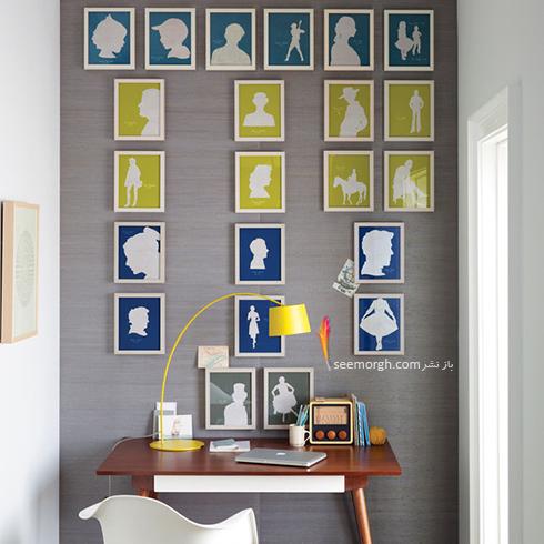 تزیین دیوار با قاب عکس های خاص و کلاسیک,تزیین دیوار,ایده هایی برای تزیین دیوار,مدل های تزیین دیوار