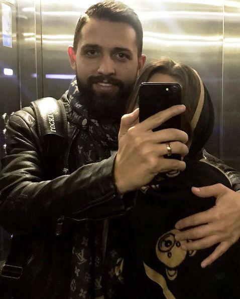 محسن افشاني و همسرش!