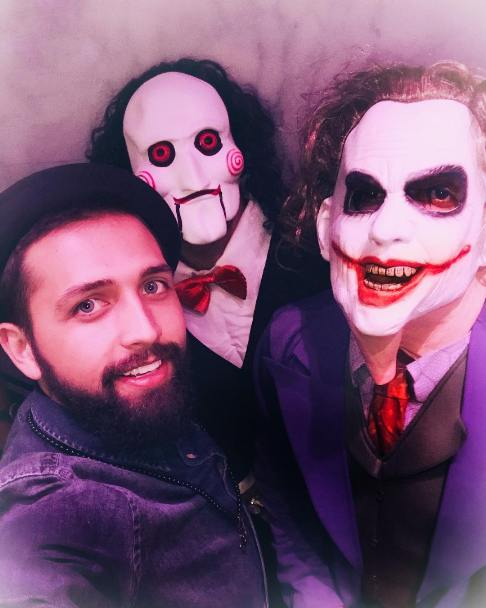 محسن افشانی در جشن هالووین