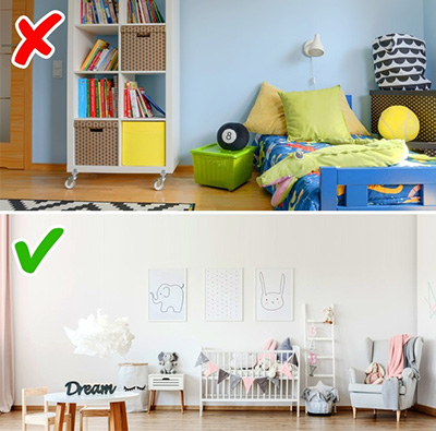 دیوار رنگی برای اتاق بچه