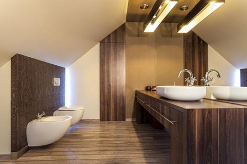 کاشی های ساده در حمام