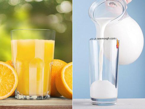 صبح ها شير بخوريم يا آب پرتقال؟