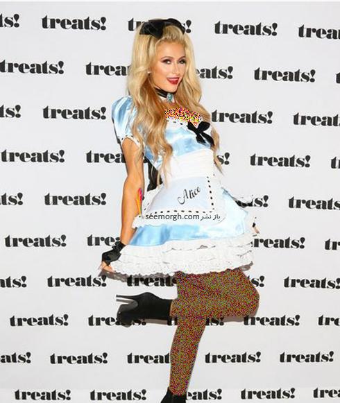 مدل لباس پاریس هیلتون Paris Hilton در جشن هالووین 2016