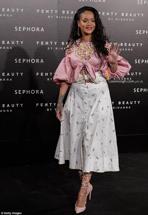 ریحانا Rihanna در معرفی برند لوازم آرایش برند فنتی Fenty - عکس شماره 3