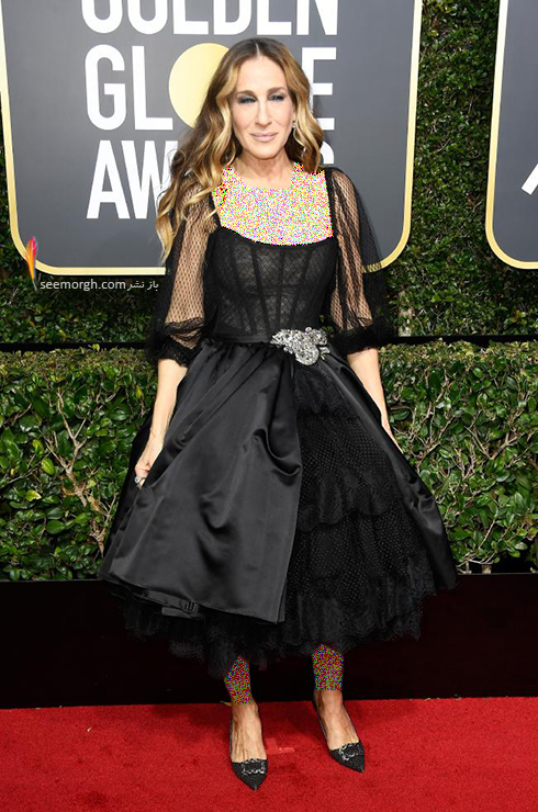 مدل لباس سارا جسيکا پارکر Sarah Jessica Parker در مراسم گلدن گلوب 2018