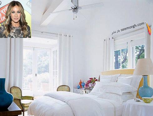 دکوراسیون اتاق خواب سارا جسیکا پارکر Sarah Jessica Parker