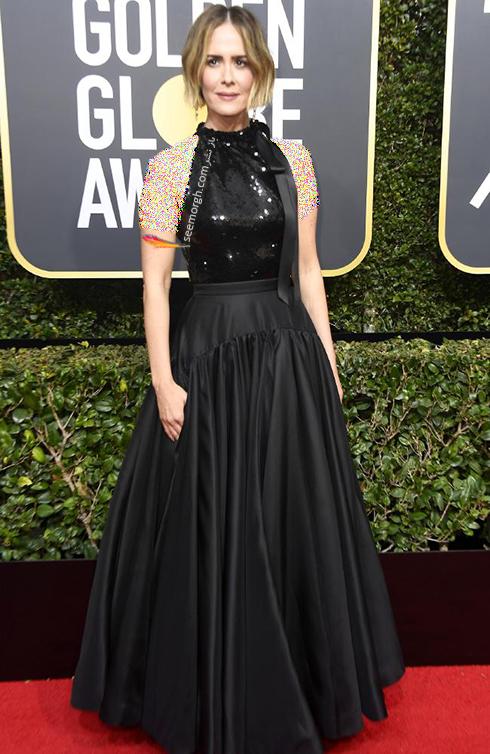 مدل لباس سارا پلسون Sarah Paulson در مراسم گلدن گلوب 2018