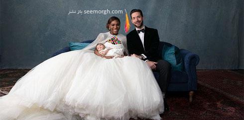 لباس عروس سرنا ویلیامز Serena Williams از طراحی های سارا بورتون Sarah Burton - عکس شماره 7