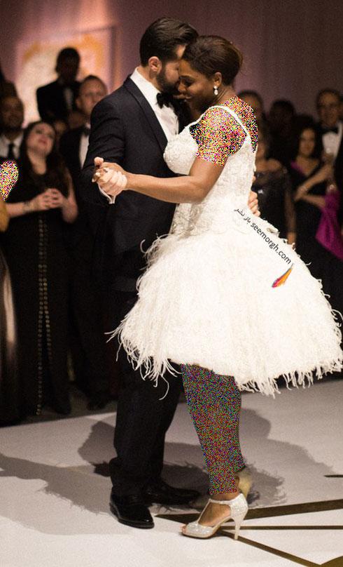 لباس عروس سرنا ویلیامز Serena Williams از طراحی های برند ورساچه Versace - عکس شماره 3