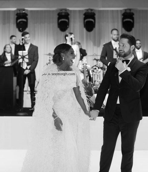 لباس عروس سرنا ویلیامز Serena Williams از طراحی های برند ورساچه Versace - عکس شماره 6