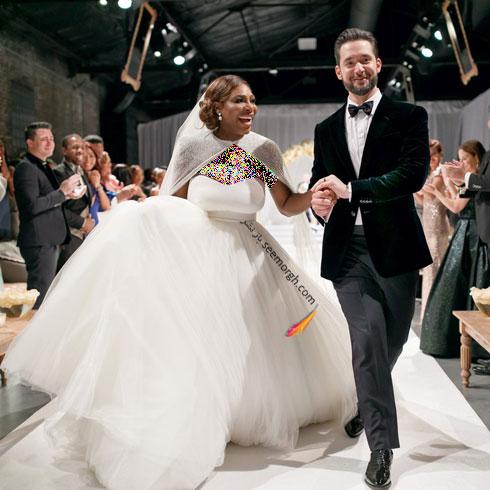 لباس عروس سرنا ویلیامز Serena Williams از طراحی های سارا بورتون Sarah Burton - عکس شماره 4