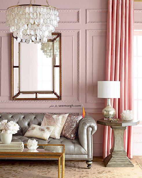 ست کردن کاغذ دیواری گلبهی با مبل و فرش مناسب - عکس شماره 9