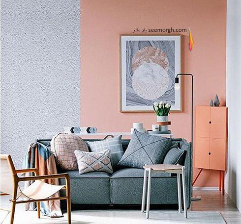 ست کردن کاغذ دیواری گلبهی با مبل و فرش مناسب - عکس شماره 8