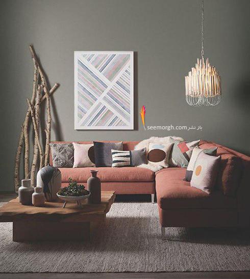 ست کردن کاغذ دیواری گلبهی با مبل و فرش مناسب - عکس شماره 7