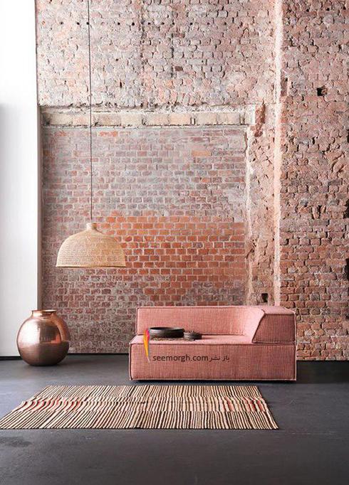 ست کردن کاغذ دیواری گلبهی با مبل و فرش مناسب - عکس شماره 6