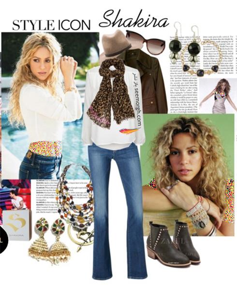 ست کردن شلوار جین برای پاییز 2017 به سبک شکیرا Shakira - عکس شماره 6