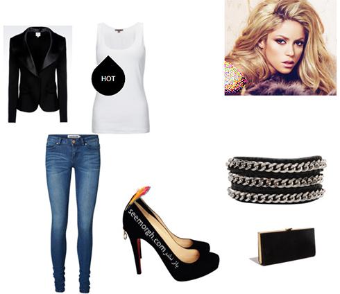 ست کردن شلوار جین برای پاییز 2017 به سبک شکیرا Shakira - عکس شماره 2