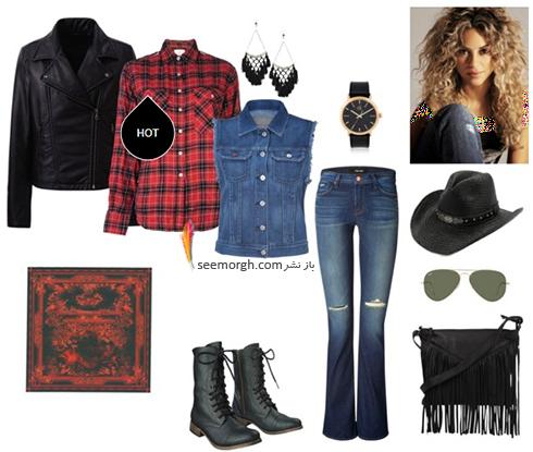 ست کردن شلوار جین برای پاییز 2017 به سبک شکیرا Shakira - عکس شماره 8