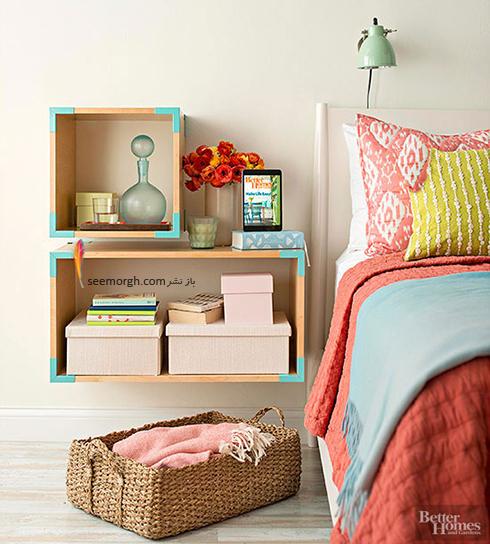 باکس های چوبی عمیق، یک کمد دیواری عالی برای اتاق خواب های کوچک