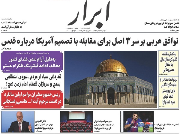 The headline of today's newspapers-Abrar.jpg