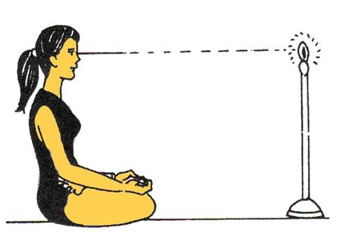 حرکات یوگای چشم: قبل از خواب ( تراتاکا Trataka )