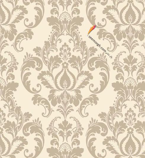 کاغذ دیواری برای ست کردن با فرش سبز فیروزه ای و مبلمان قهوه ای - عکس شماره 11