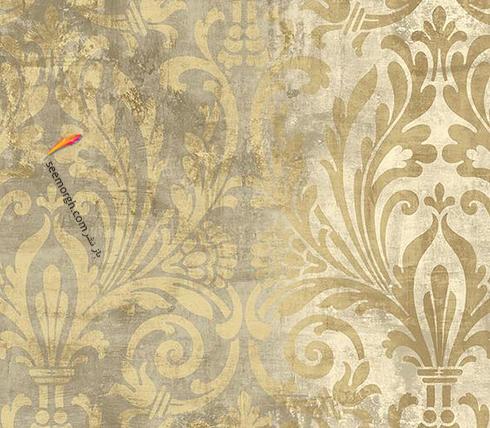 کاغذ دیواری برای ست کردن با فرش سبز فیروزه ای و مبلمان قهوه ای - عکس شماره 10