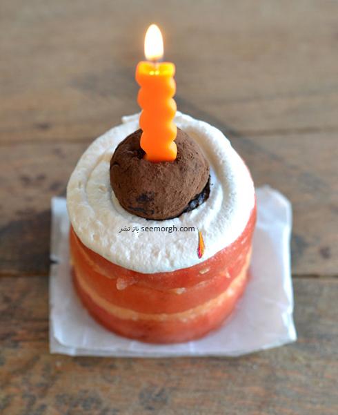 درست کردن کیک هندوانه شب یلدا