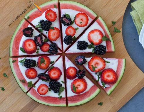 پیتزا هندوانه ای برای دسر شب یلدا - عکس شماره 4