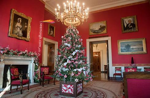 دکوراسیون کریسمسی کاخ سفید به پیشنهاد ملانیا ترامپ - عکس شماره 1