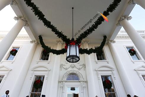 دکوراسیون کریسمسی کاخ سفید به پیشنهاد ملانیا ترامپ - عکس شماره 13